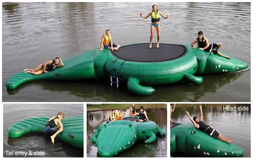 Island Hopper GATB Gator Bounce 'N Slide 13' Water Trampoline w/ Warranty at Sears.com