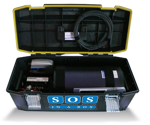 SOS in a Box Portable Solar Powered Backup Generator System