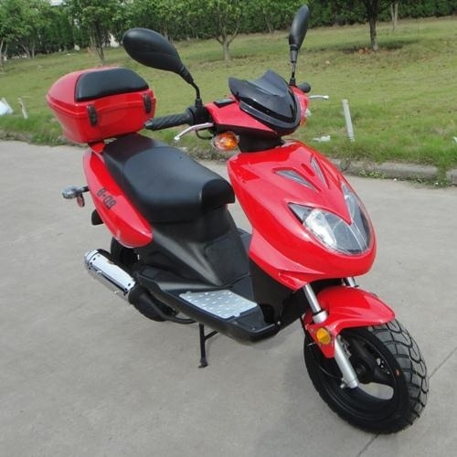 Peace Sports Galaxy TPGS-810 RED Gas 49cc Moped Scooter w/ Rear Mounted Storage Trunk at Sears.com