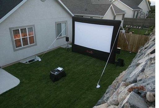 Outdoor Movie Projection Projector Home Inflatable Screen
