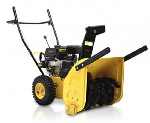 BMS JXS65EM YELLOW 4 Cycle Dual Stage 6.5 HP Snow Blower w/ Snow Hog Tires at Sears.com
