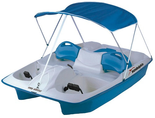 Sun Dolphin BLUE Sun Slider Adjustable 4 Seat Lounger Pedal Boat w/ Canopy at Sears.com