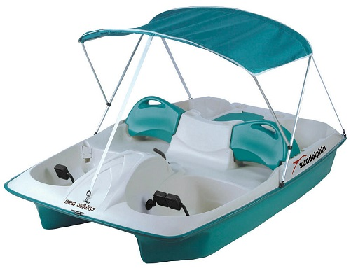 Sun Dolphin AQUA Sun Slider Adjustable 4 Seat Lounger Pedal Boat w/ Canopy at Sears.com