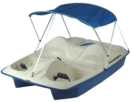 Sun Dolphin BLUE 5 Seat UV-Stabilized Pedal Boat w/ Warranty, Canopy, & Built-In Cooler at Sears.com