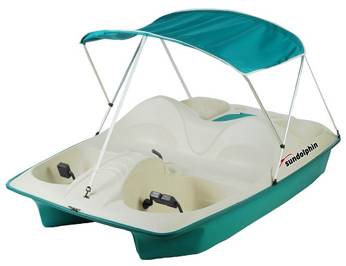 Sun Dolphin AQUA 5 Seat UV-Stabilized Pedal Boat w/ Warranty, Canopy, & Built-In Cooler at Sears.com