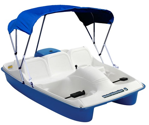 Sun Dolphin BLUE Water Wheeler 5 Seat UV-Stabilized Pedal Boat w/ Warranty & Canopy at Sears.com