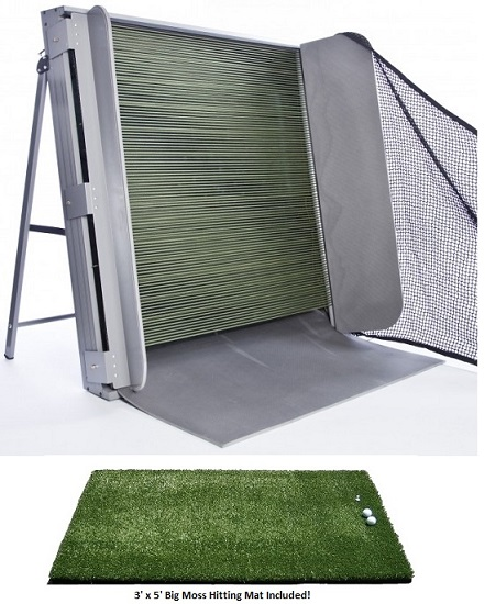 Swingbox Indoor Golf Swing Training Net W Ball Return