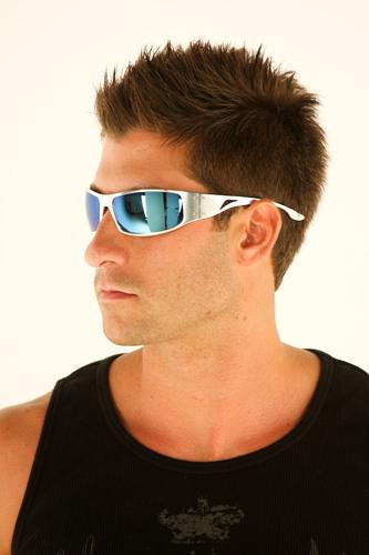 Aluminum Sunglasses  new outlaw eyewear fugitive aluminum blue chrome lens motorcycle