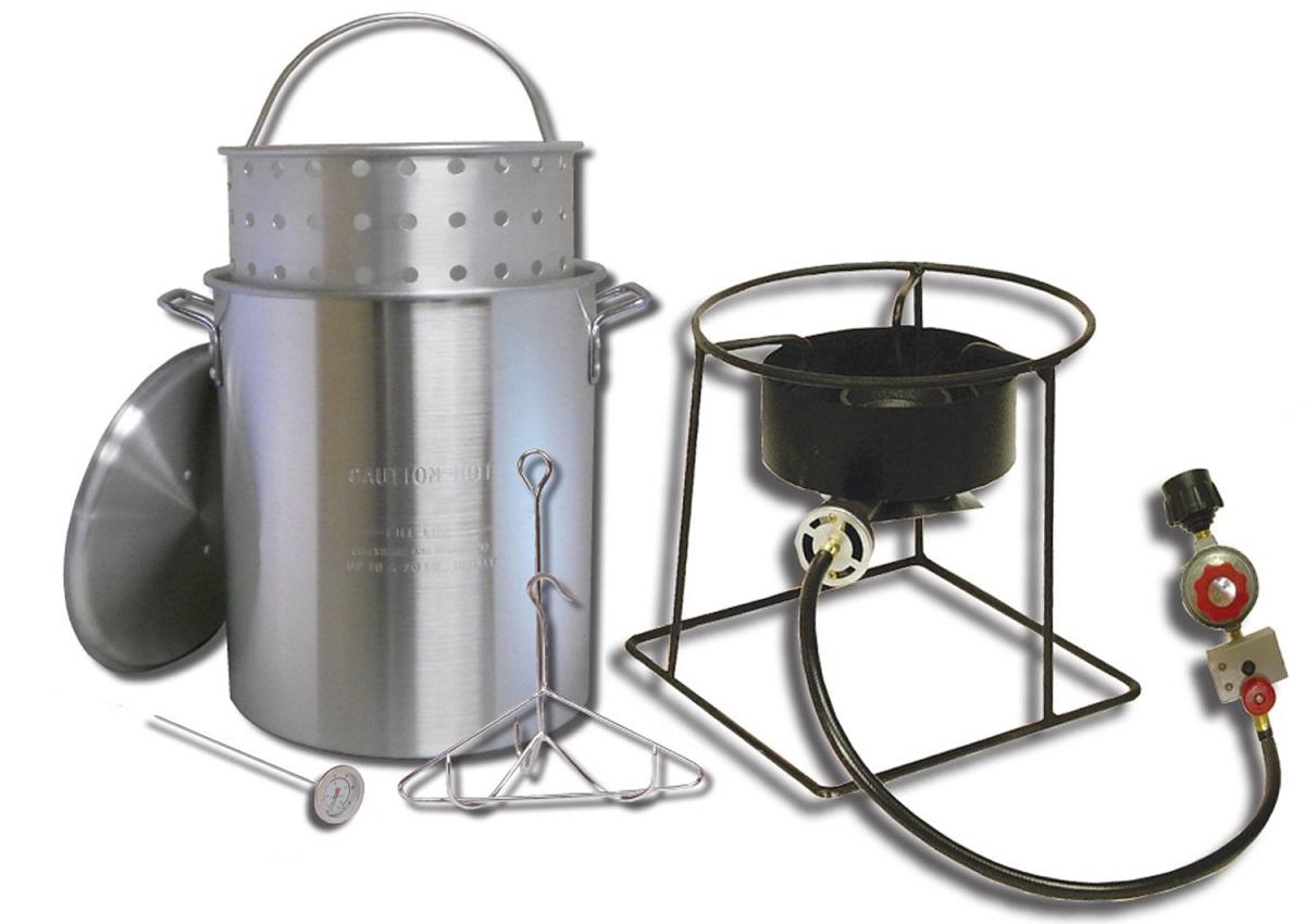 New king kooker 1266b portable outdoor propane turkey for Propane fish fryer