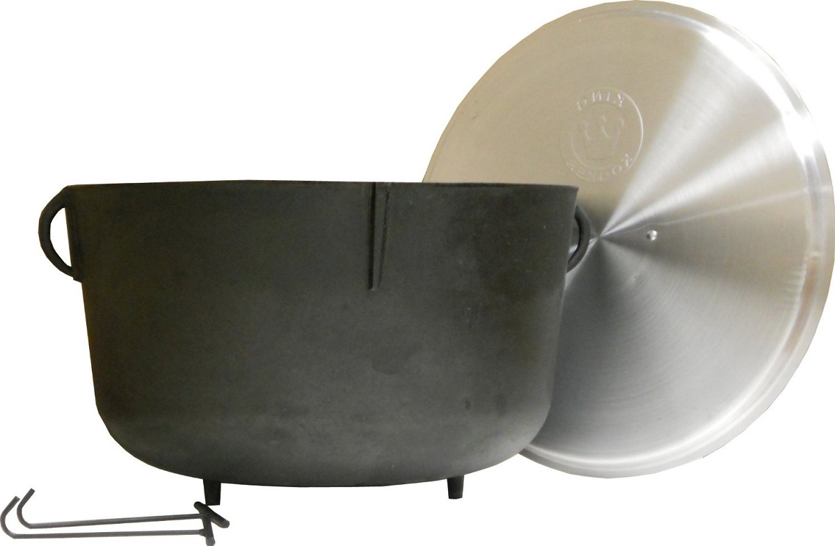 New king kooker 5940 heavy duty cast iron jambalaya pot w for Iron fish for cooking