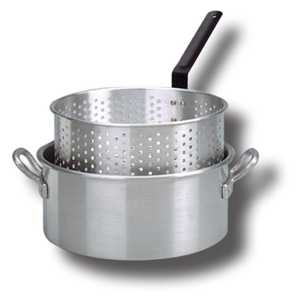 New king kooker kki aluminum fry pan w punched aluminum for Walmart fish fryer