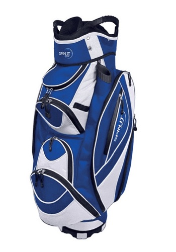 New Spin It Golf Easy Play Blue Lightweight 10 Pocket Club