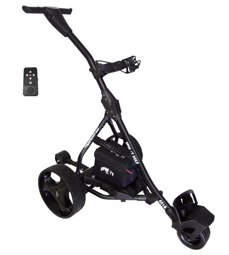 Spin It Golf Easy Trek Black Electric Remote Controlled