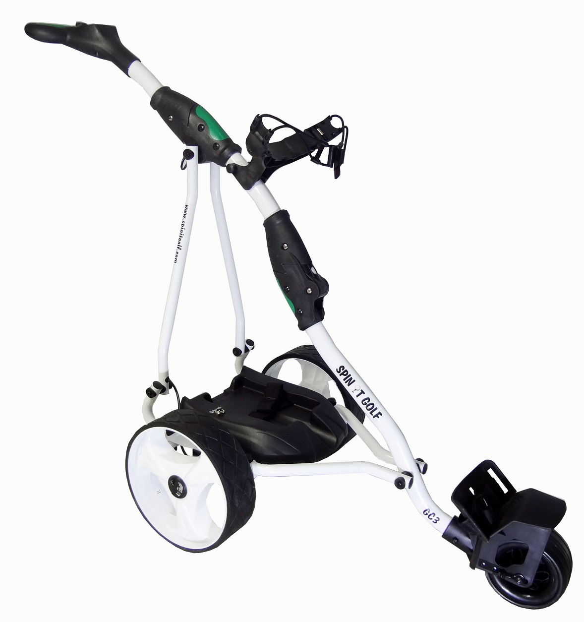 New Spin It Golf Easy Glide White Manual Electric Club Bag