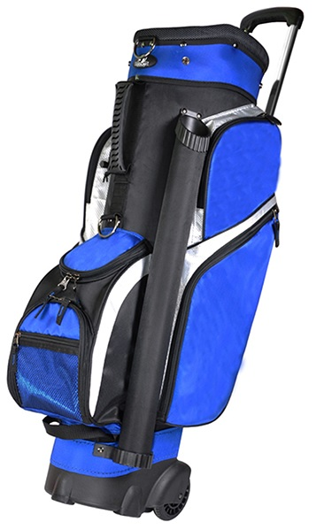 "RJ Sports Royal Blue Wheeled  9.5"" Cart Transport Golf Bag w/14 Way Divider at Sears.com"