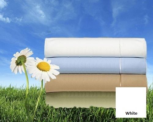 Nidraa 1001 White Cool & Crisp Twin Bed Sheet Set w/ 1 Pillowcase at Sears.com