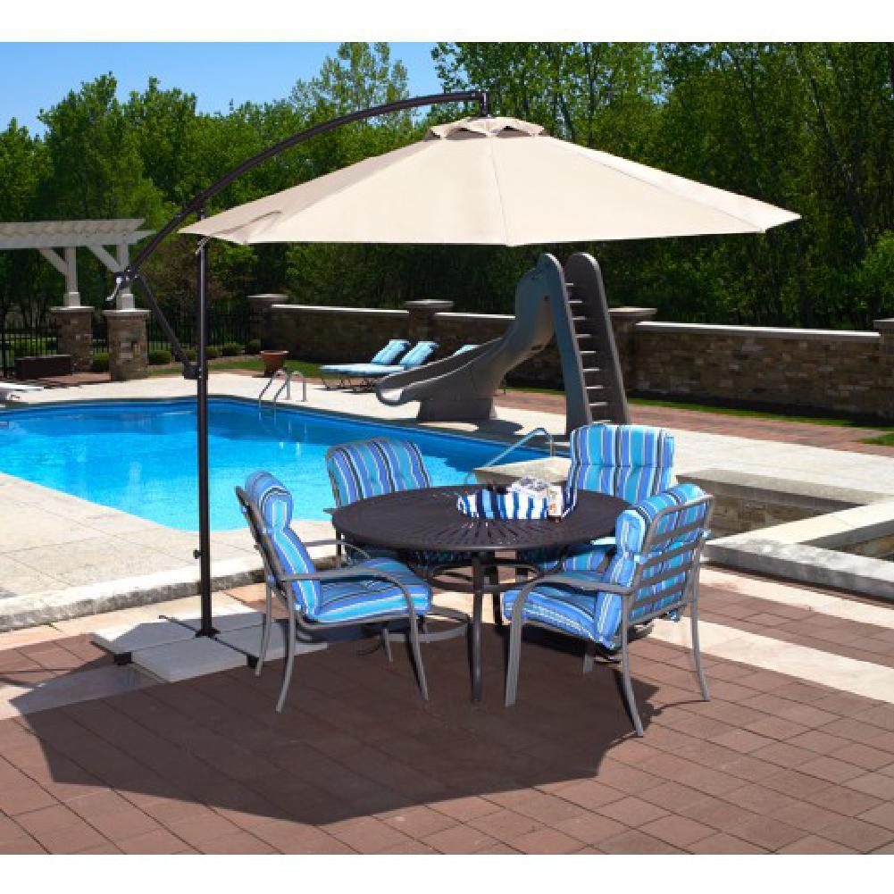 Blue Wave Santiago Cantilever Umbrella 10' Octagon - Champagne Linen Olefin at Sears.com