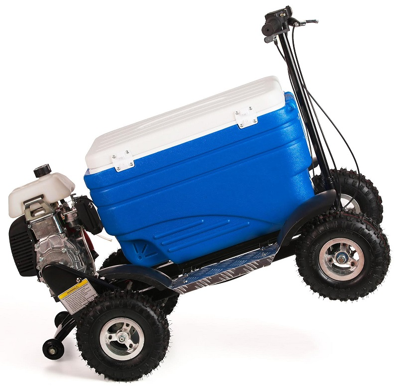 crazy coolers blue 4stroke motorized all terrain 49cc