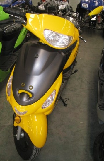 Renegade TPGS-805 YELLOW Gas 49cc Moped Scooter w/ Rear Mounted Storage Trunk at Sears.com