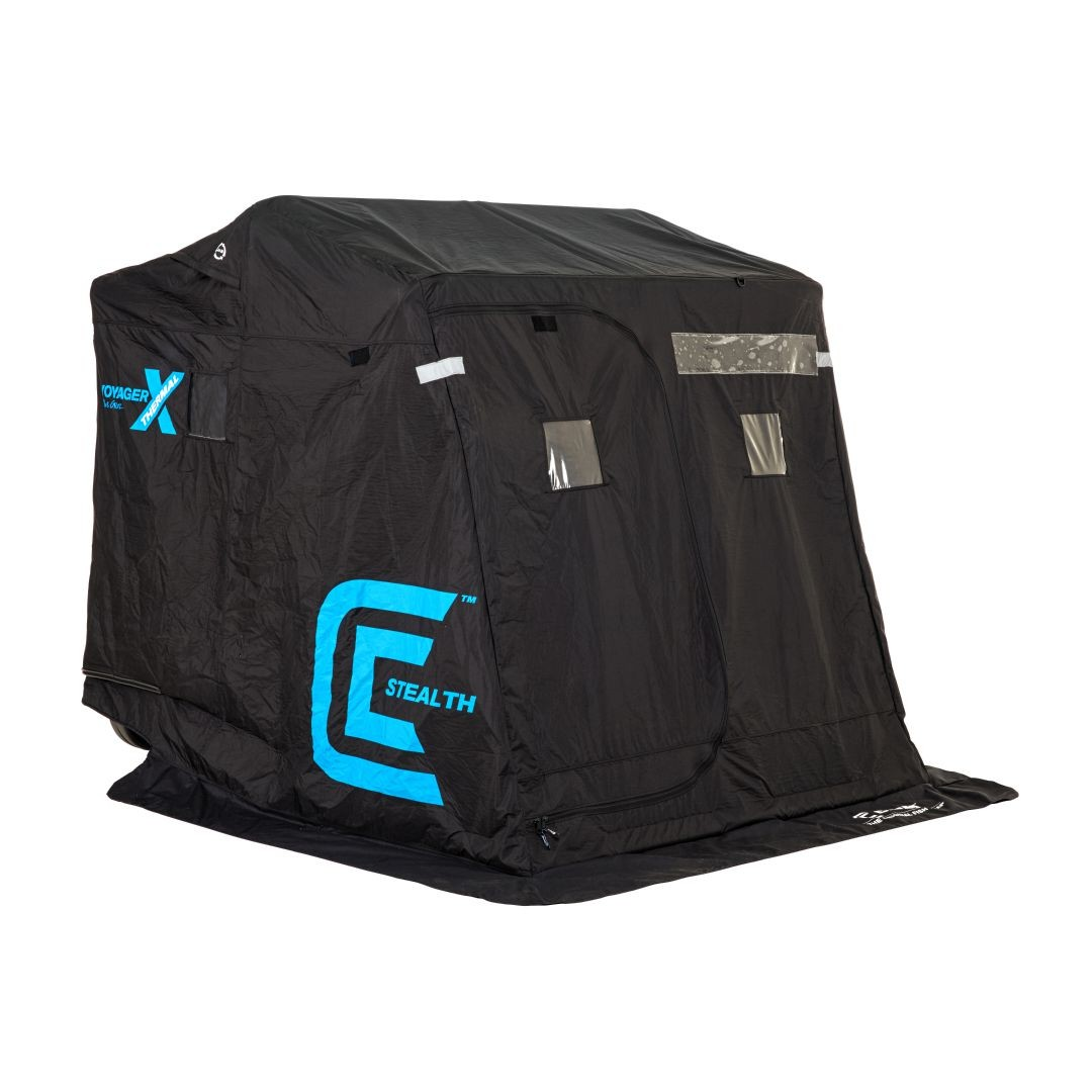 Clam outdoors 10131 voyager x thermal stealth 2 man ice for Ebay ice fishing