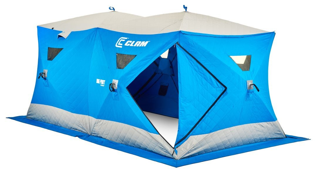 Clam outdoors 10136 big foot xl6000t garage ice fishing for Clam ice fishing shelters