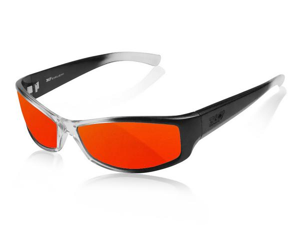 NEW ICICLES Stinger Orange Mirror Lens Sunglasses with Black Fade Frame Color