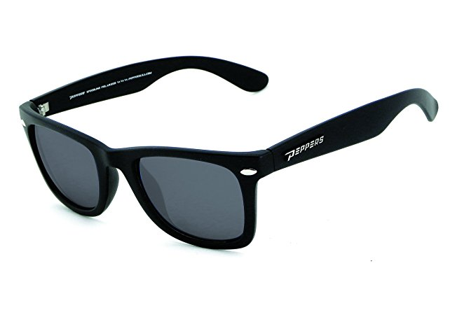 NEW Peppers Sweet Polarized Sunglasses with Shiny Black Eyeware and Mirror