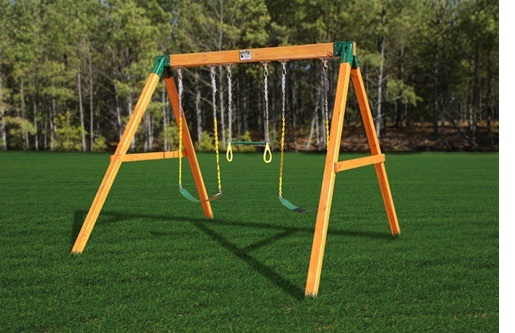 New Gorilla Playsets 01 0002 Standalone A Frame Congo Swing Set W