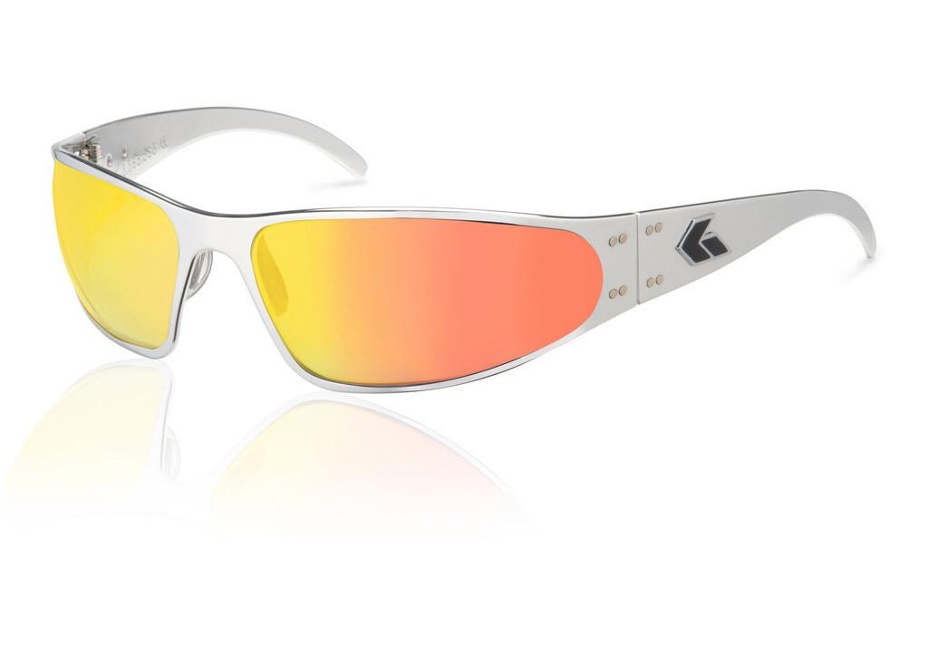 3e3022a8c85 Details about NEW Gatorz Wraptor CHROME Aluminum Scratch Resistant Sunburst  Lens Sunglasses
