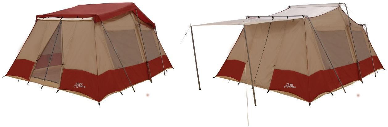 New Trek Tents 240 Three Room Nylon Taffeta 10 Person