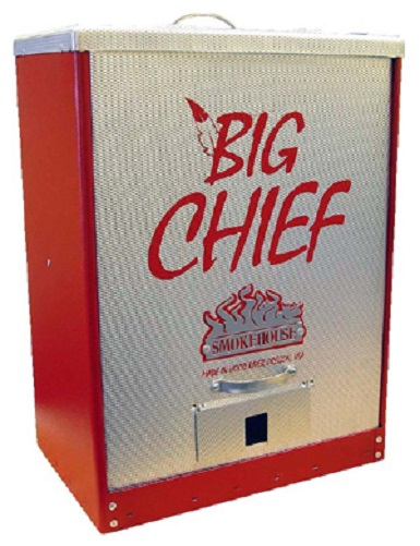 New Smokehouse Big Chief 9894 Red Tuff Coat Electric Front Load Meat