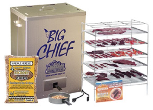 New Smokehouse Big Chief 9890 Top Load Electric 5 Grill Bbq Meat
