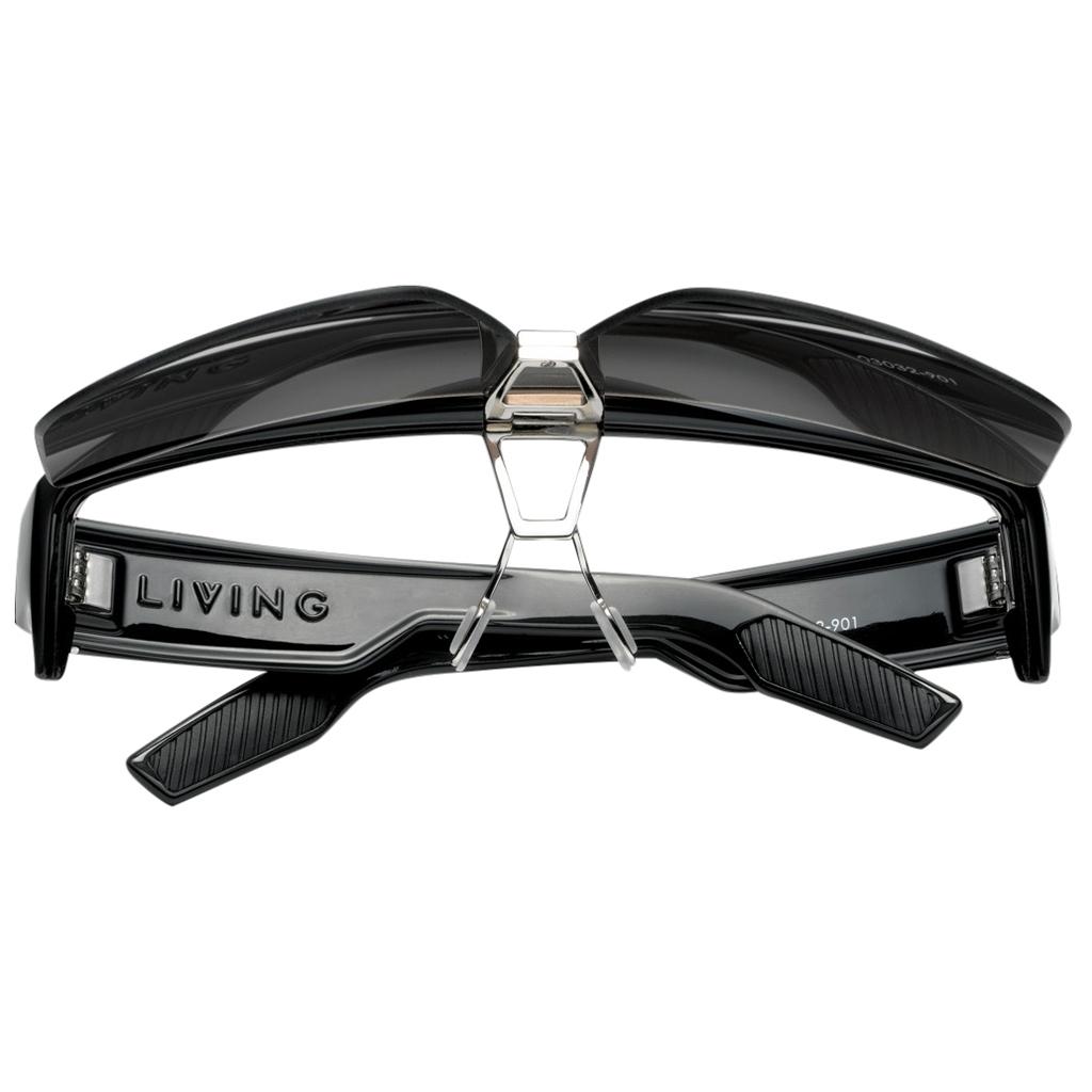 f0cafa78332d New IVI Eyewear Living Shield Polished Black frame with Grey Lens Sunglasses