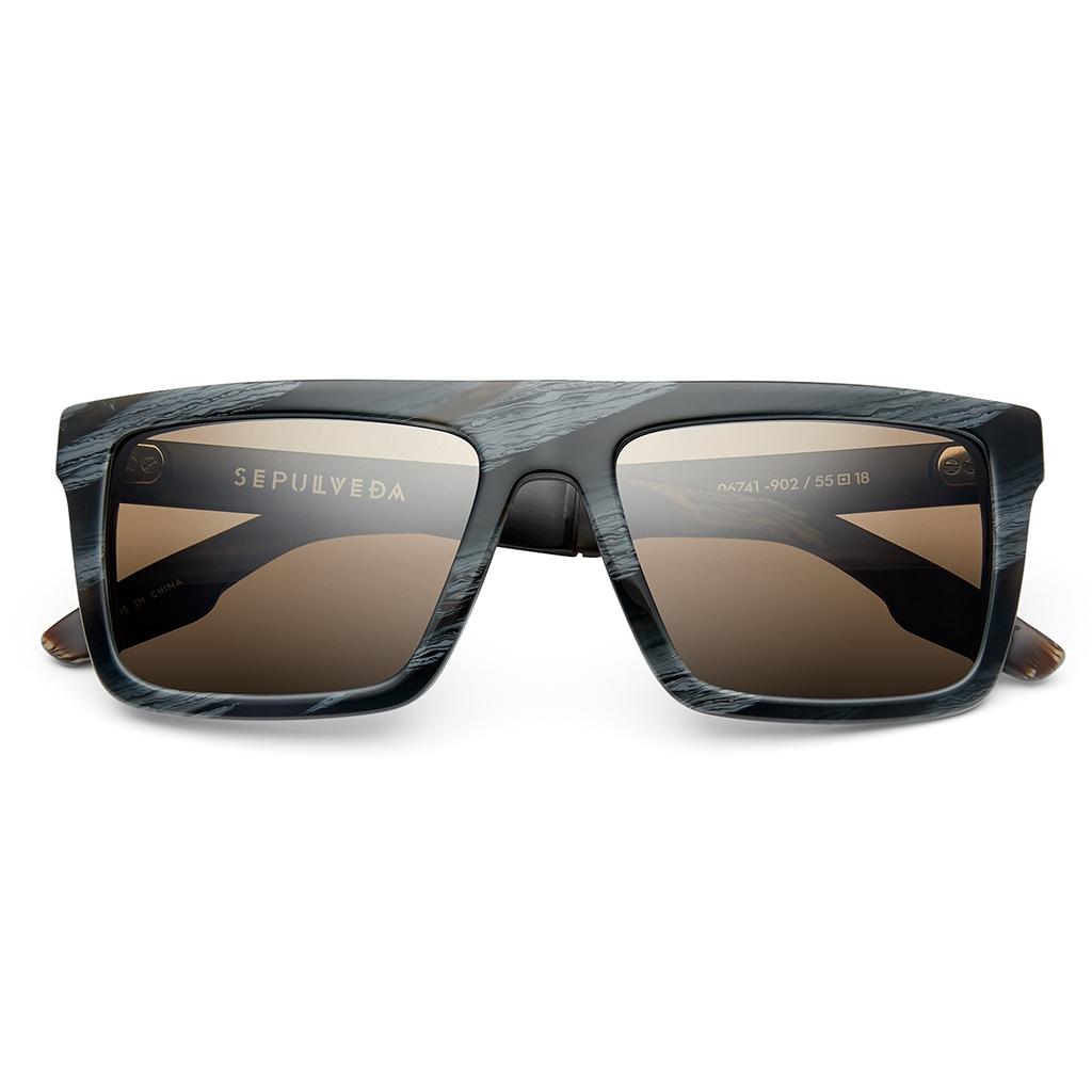 b6650183d91 IVI Sepulveda 06741-902 Polarized Rectangular Sunglasses Double Horn ...