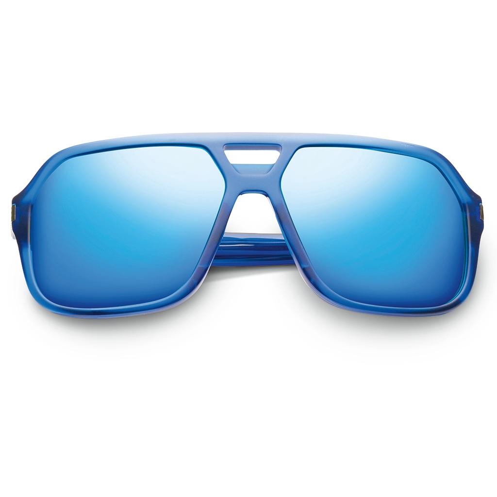 5a0bf4dfdd3 New IVI Eyewear Hunter Matte Midway Blue and Antique Brass Framed Sunglasses