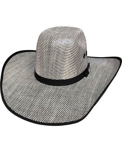 NEW BULLHIDE SHADES OF BLACK 50X (BLACK IVORY) 7 Medium Straw Cowboy PBR Hat 081b997cd29