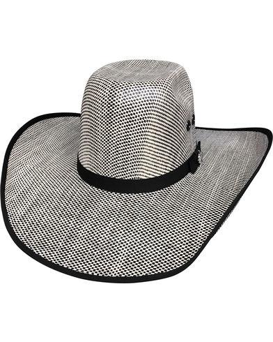 2c5ae497f Details about NEW BULLHIDE SHADES OF BLACK 50X (BLACK/IVORY) 7 1/8 Medium  Straw Cowboy PBR Hat