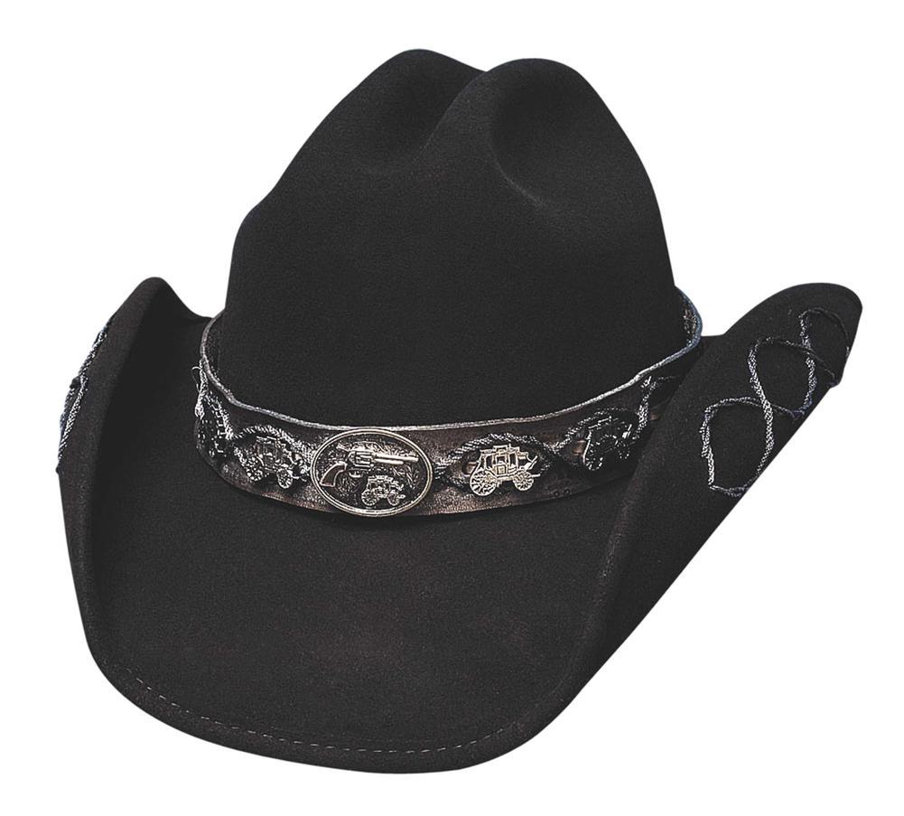 Bullhide Mens Iron Road Leather Hat 4022Bl
