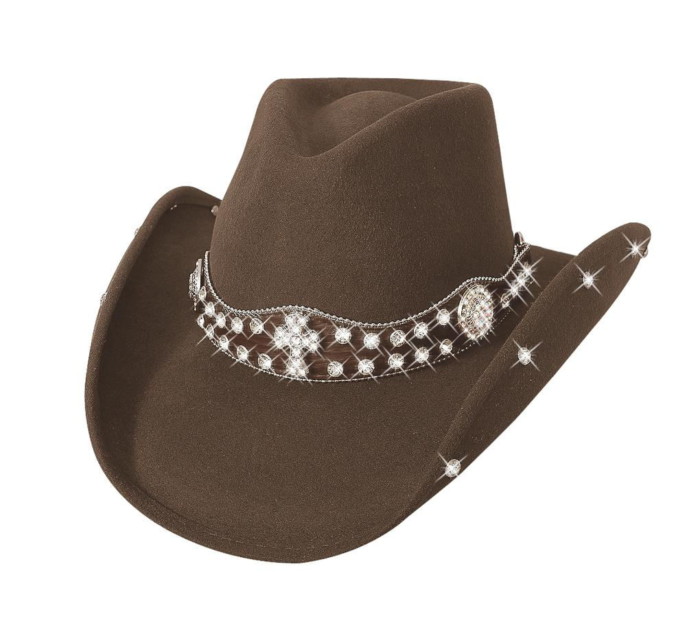 SASSY COWGIRL COLLECTION - Item Number  0592CH - Style MOMENT 4 LIFE -  Material  PREMIUM WOOL - Brim  3 3 4
