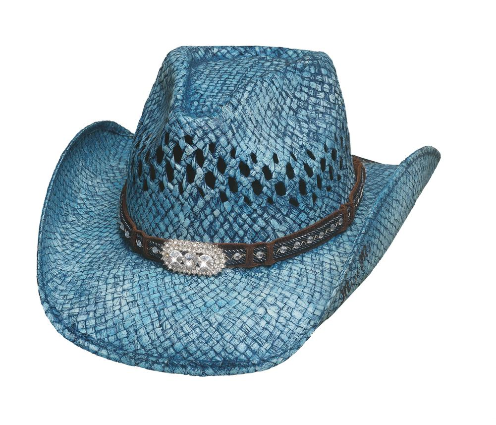RUN A MUCK COLLECTION - Item Number  2841 - Style WILD AND BLUE - Material   TOYO STRAW - Brim  3 3 4
