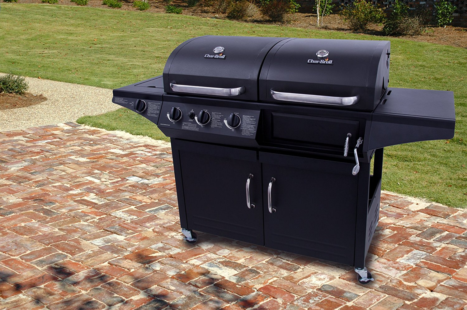 Details About New Charbroil Deluxe 1010 3 Burner Liquid Propane And Charcoal Combo Grill