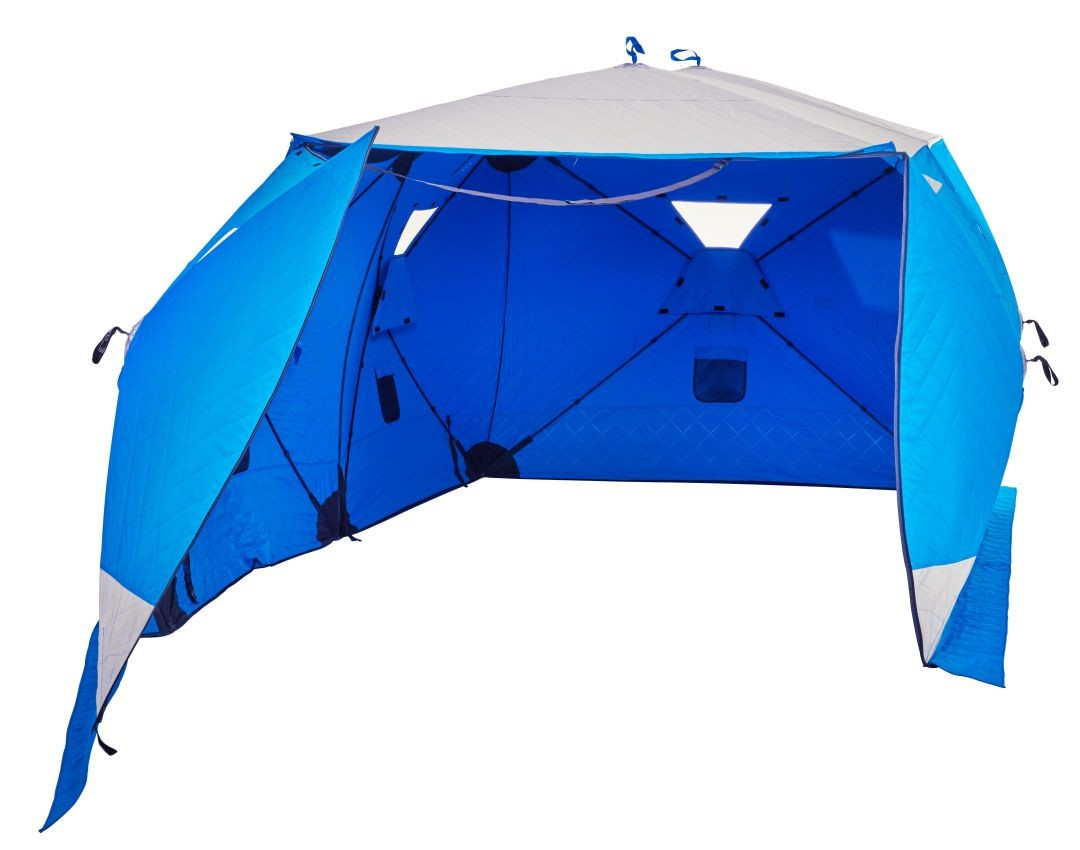 Winter Pop Up Shelter Interior : Clam outdoors big foot xl t garage ice fishing