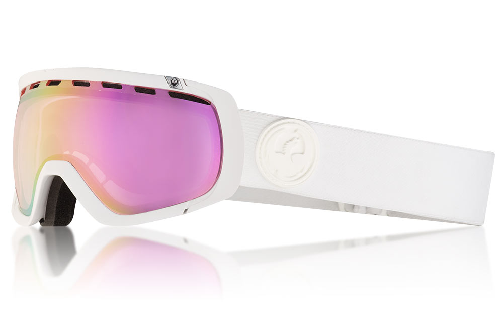 6cab0a49c55c NEW Dragon Alliance Rogue Whiteout Snow Goggles with LumaLens Pink Ion  Finish