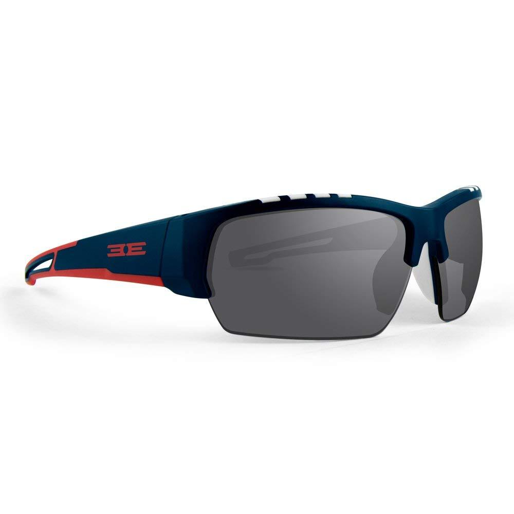 New Epoch Eyewear  Echo Edgy Half-Framed Navy Red Sunglasses  general high quality