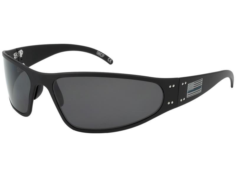 aa716758c82 New Gatorz WRABLK01P 60 mm Polarized Oval Sunglasses Black SMOKED POLARIZED  Lens