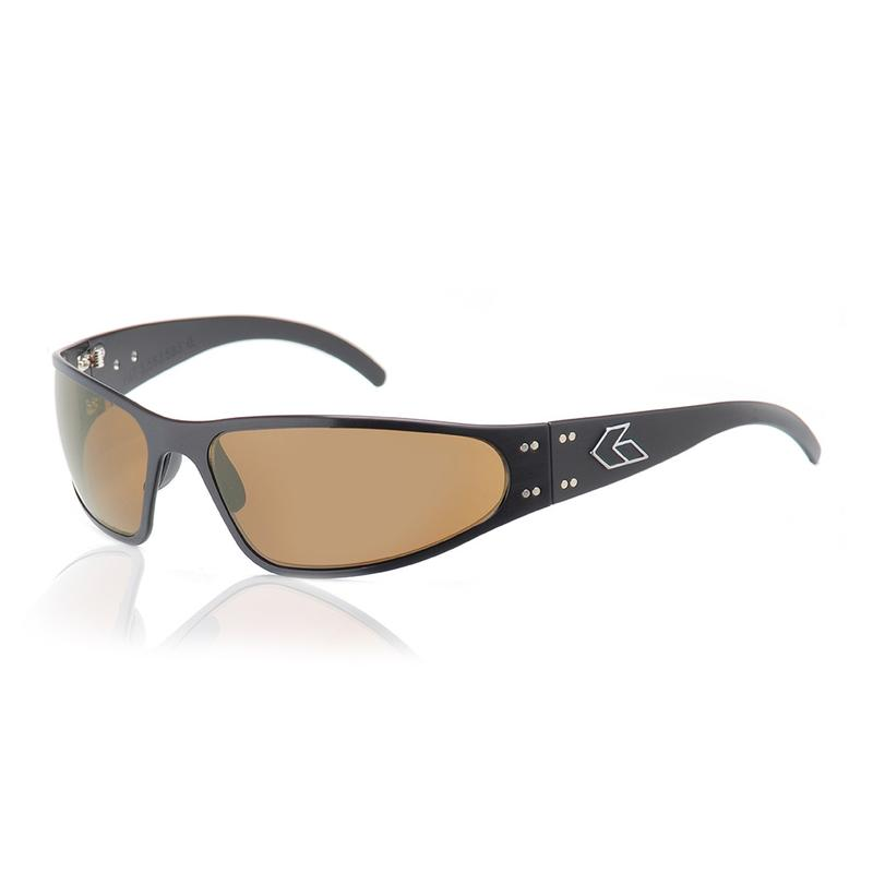 8560da6bfdf New Gatorz WRAPTOR style BLACK frame BROWN POLARIZED Lens sunglasses ...