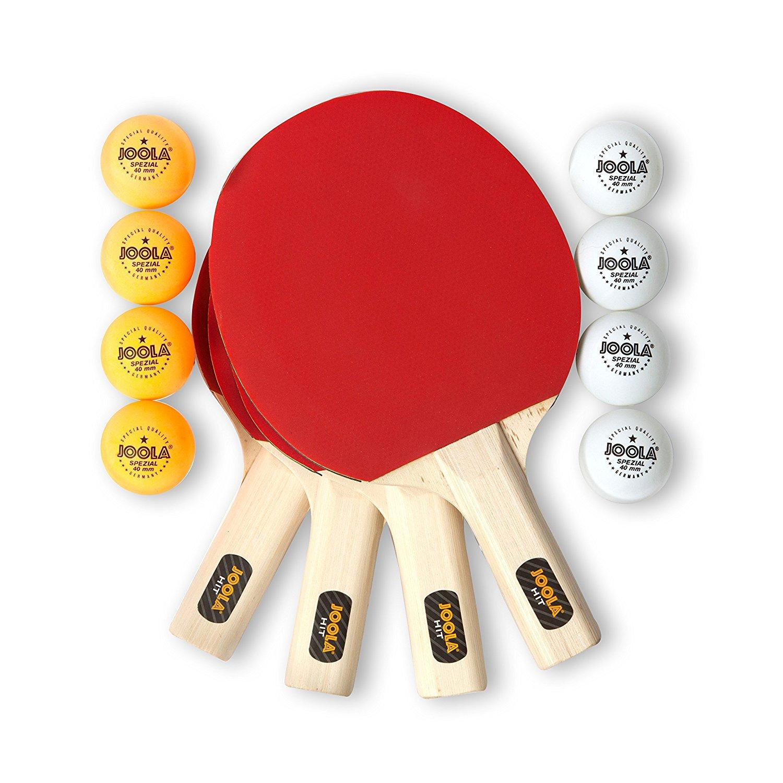 JOOLA 59152 Hit Recreational Table Tennis Racket Set of 4 | eBay