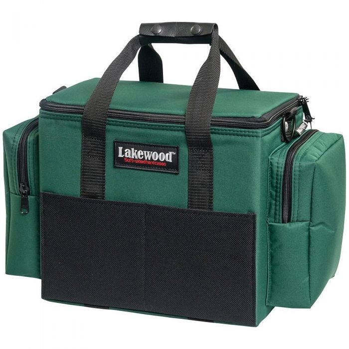 NEW Lakewood Soft-Sided Hard Large Fishing Spinner Bait Box Green