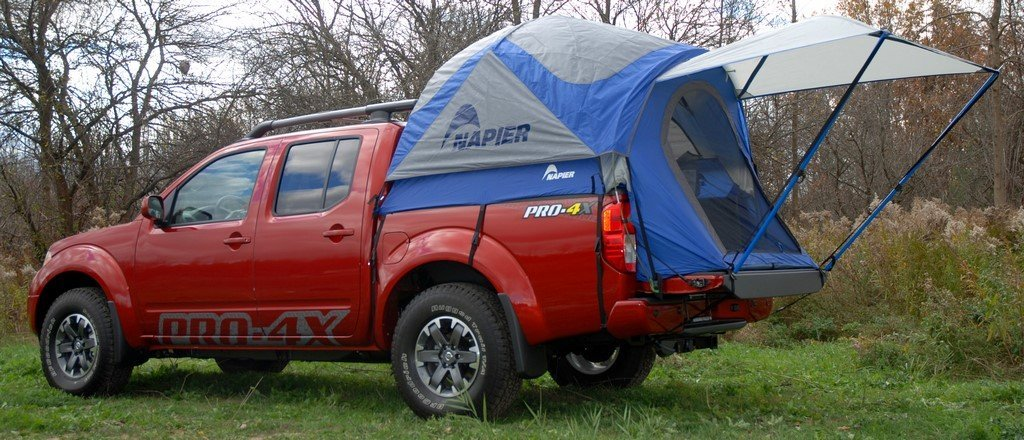 napier outdoor sportz easy assembly truck tent compact bed red color ebay