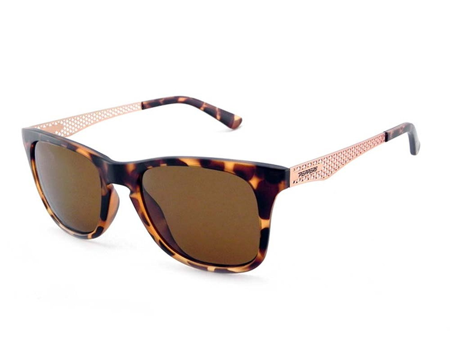 e912a634d36 New Peppers Stellar Polarized Sunglasses Matte Champagne Tort with Brown  Lens